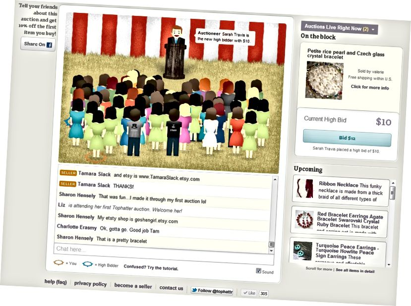 تجربه دسک تاپ Old Tophatter حدود 2012. چه اتفاقی می افتد که تجارت با turntable.fm ملاقات کند؟