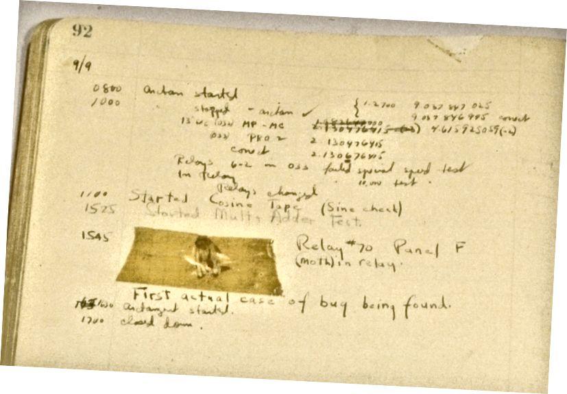 Grace Hopper megtalálja az első tényleges számítógépes hibát, 1947-ben