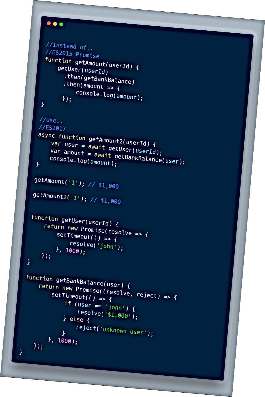 ECMAScript 2017 (ES 8) - Async Await مثال أساسي
