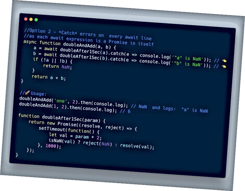 ECMAScript 2017 - استخدم حاول التقاط كل تعبير ينتظره