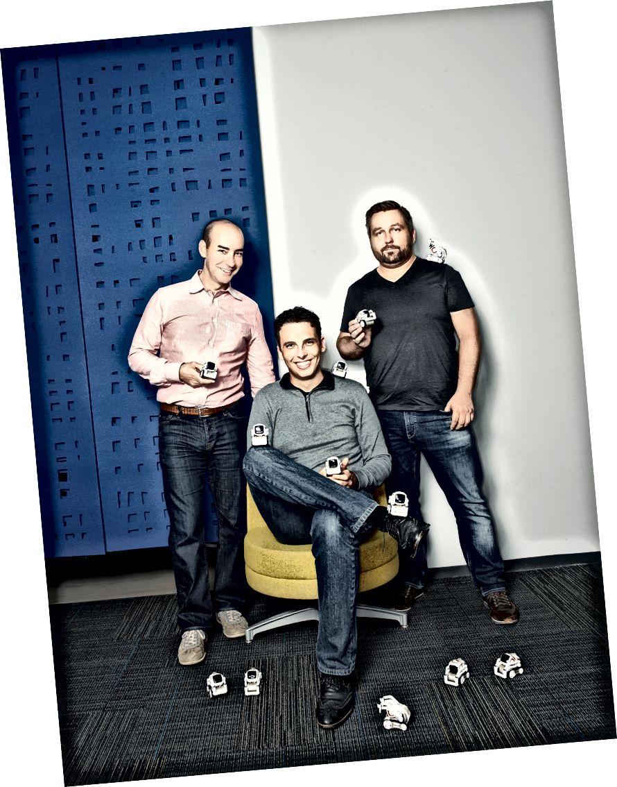 Co-fondateurs d'ANKI: Mark Palatucci, Boris Sofman, Hanns Tappeiner.