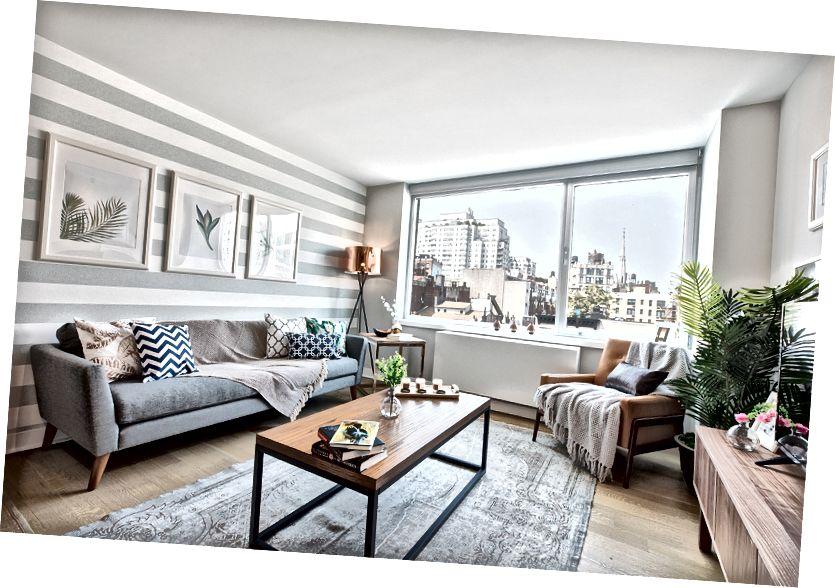 Rumah Blueground dilengkapi dengan perabotan khusus dan hiburan rumah mewah.