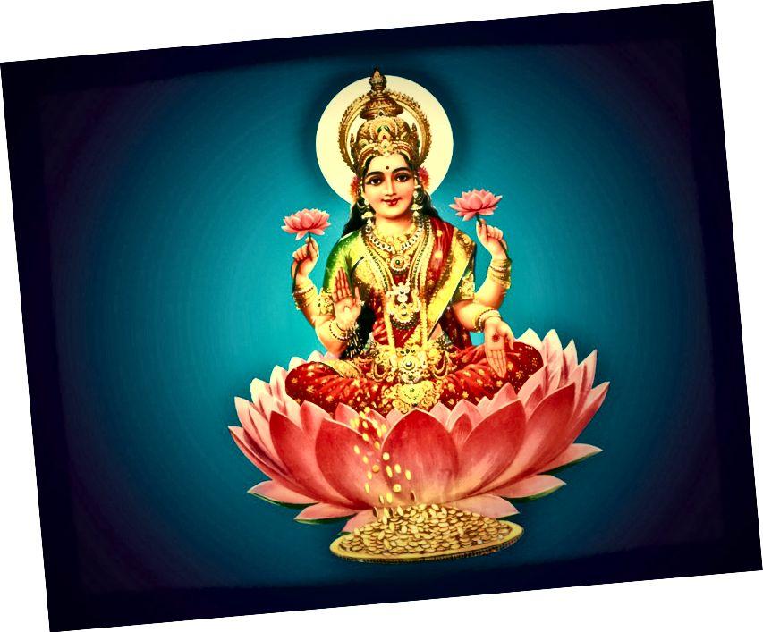 Lakshmi, la déesse hindoue de la prospérité.