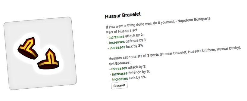 Bracelet hussard