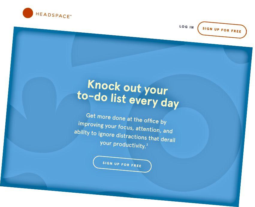 Meine Version dieses Abschnitts auf der Headspace-Homepage