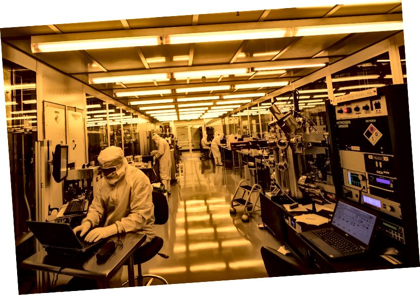 Rigetti Computing's Fab-1, fab kuantum chip komersial pertama di dunia.