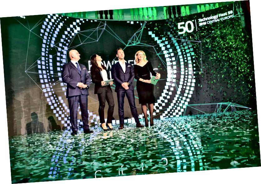 Upacara penghargaan Deloitte Fast 50 Eropa Tengah
