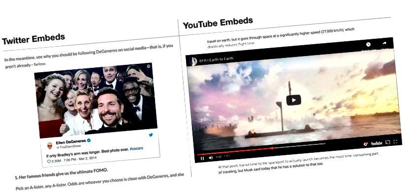 Tvær vinsælustu innfæddar gerðir vefsins: Twitter og YouTube