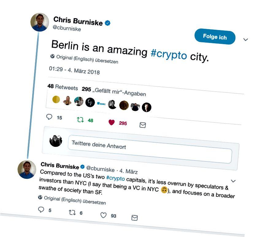 Berlin memang kota kripto yang menakjubkan! Tweet oleh Chris Burniske