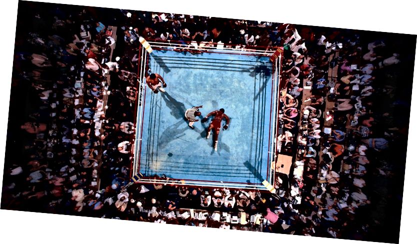 Neil Leifer 'Muhammad Ali gegen George Foreman, 1974 WBC / WBA World Heavyweight Title' '
