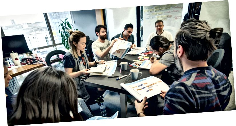 Foto från ett JotForm-teammöte