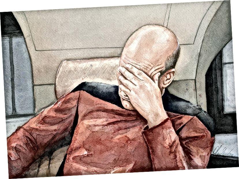 Arte geek Arte di Olga Shvartsur 'Picard Facepalm'