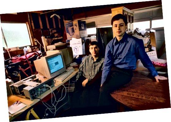 Larry dan Sergey kembali ketika markas Google adalah sebuah garasi.