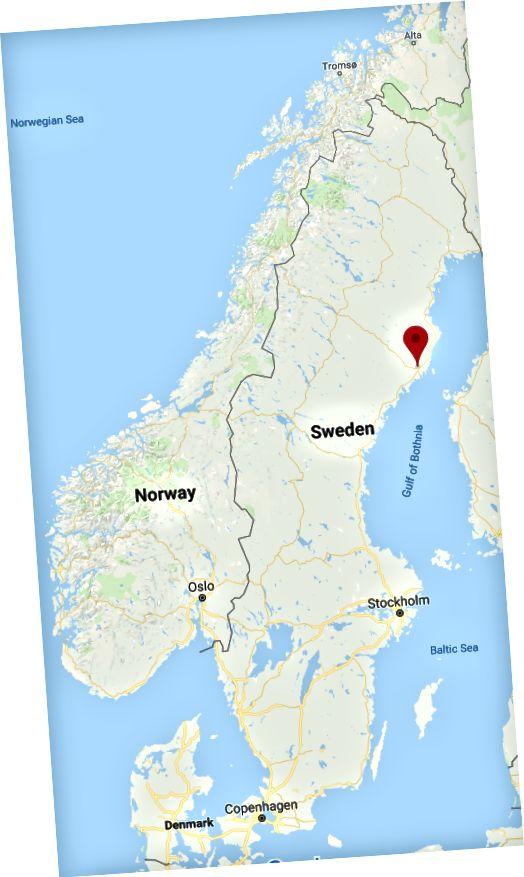Umeå - à environ 600 kilomètres au nord de Stockholm