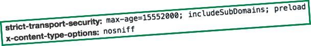 En-têtes ajoutés par Cloudflare aux demandes de votre domaine après avoir configuré HSTS comme indiqué ci-dessus