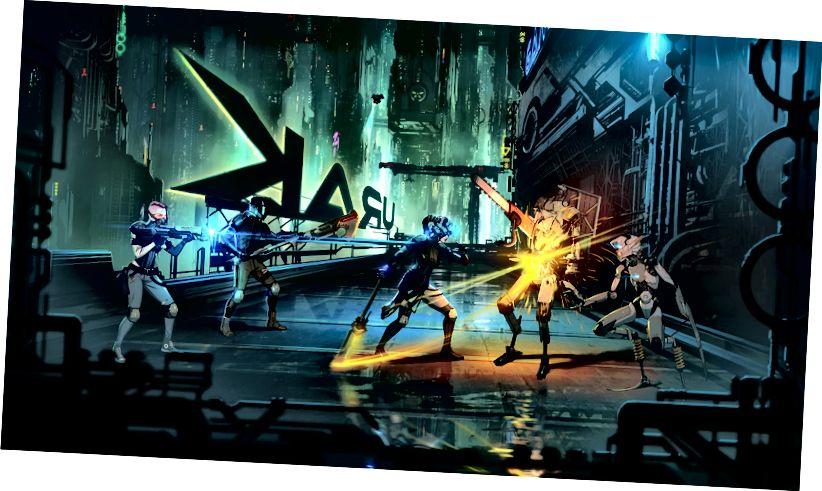 Снимка от предстоящия трейлър за геймплей на Neon District