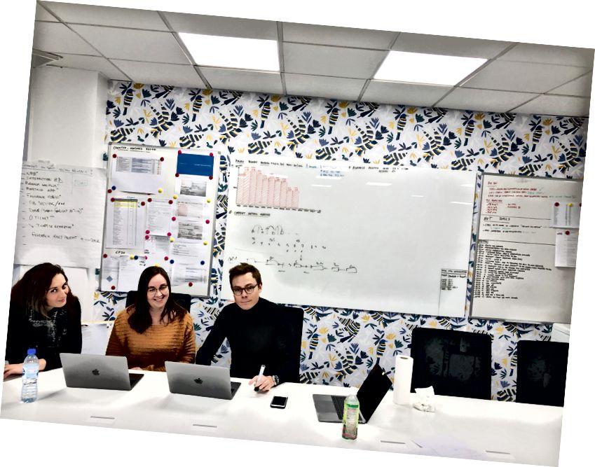 Енн-Шарлотта, Астрід та Жермен аналізували повторно відкриті квитки під час сесії в Кайзен