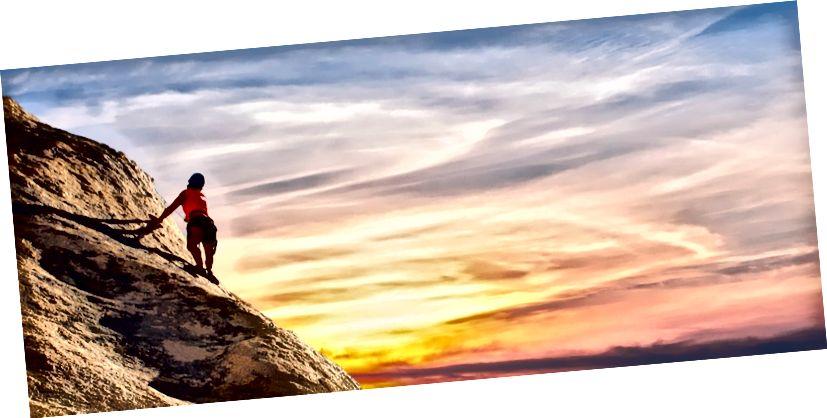 Pokoušíte se vylézt na horu? to je to, jak to vypadá (obrázek může podléhat autorským právům).