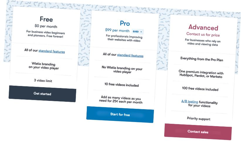 Sumber: Wistia Pricing Page