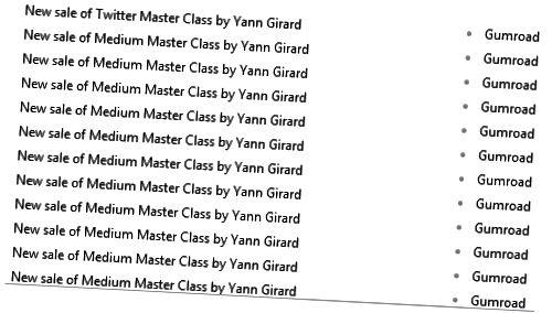 Folk som klikket på lenken i disse brevene, kunne kjøpe Medium Master Class