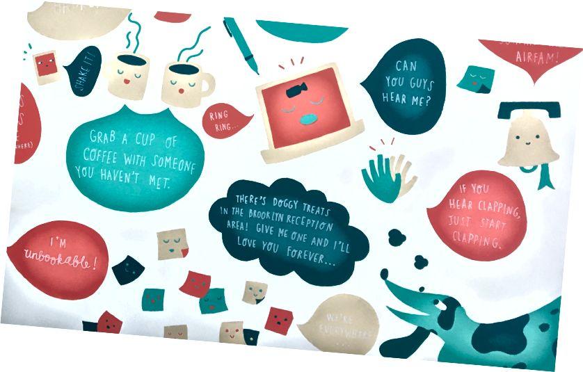 Mga tip para sa mga bagong empleyado, pininturahan sa mga pader sa panahon ng isang hackathon. Mural: Andrea Nguyen, Jeany Ngo, Katie Chen; Mga larawan: Lenny Rachitsky