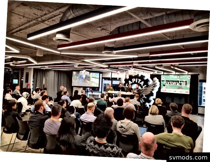 Dieses Bild wurde während eines SXSW-Vortrags über Innovationen bei AFWERX aufgenommen.