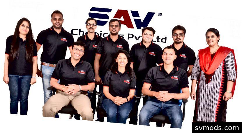 SAV Chemicals Team im Jahr 2014