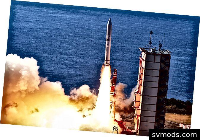 Alle sieben Satelliten trennten sich erfolgreich von der Trägerrakete. Quelle: jaxa.jp