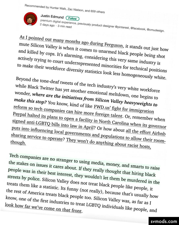 Ganzer Artikel: Silicon Valley kümmert sich nicht um Schwarze