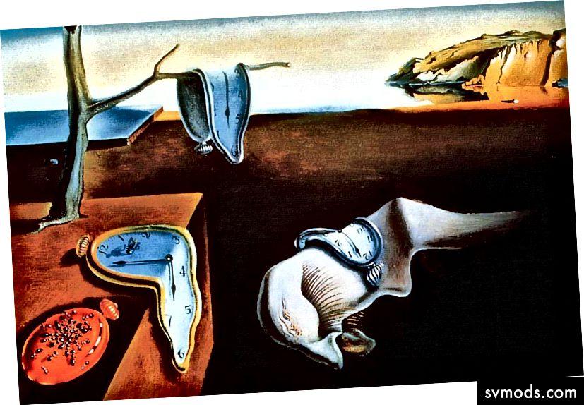 Sự bền bỉ của trí nhớ Hồi giáo của Salvador Dalí (1931 - dầu trên vải)