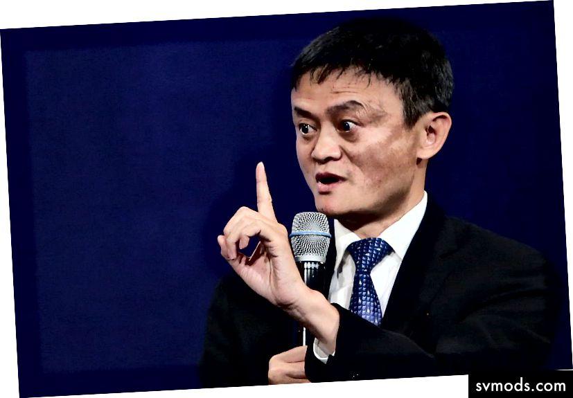 Alibaba Gründer und CEO Jack Ma, bereit, mich zu korrigieren.