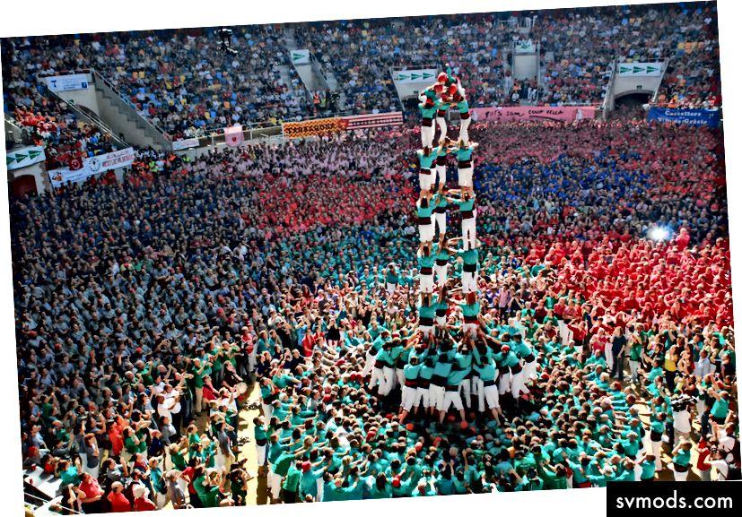 Concurs de Castells, Spaniens jährlicher Menschenturmwettbewerb.