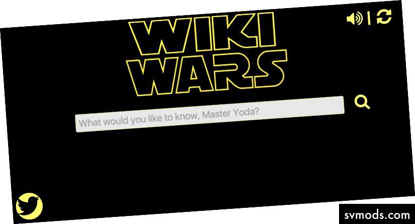 Star Wars-thematische Wikipedia-Suche