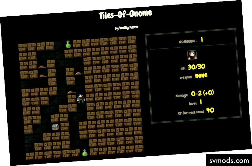 Ein schurkenhaftes Dungeon-Crawler-Spiel
