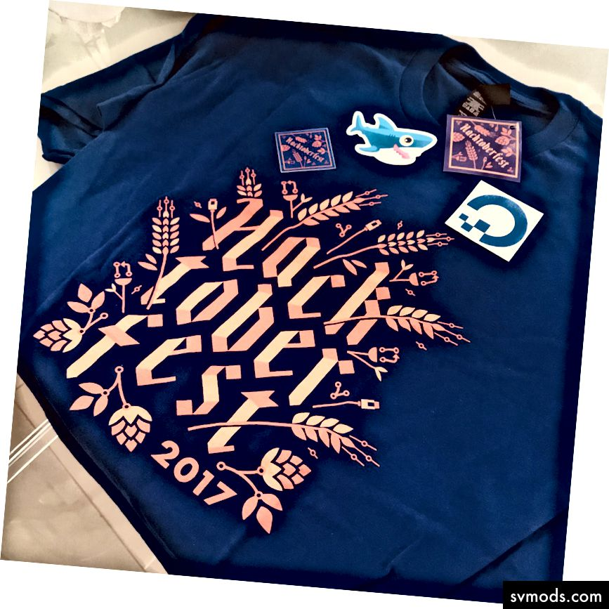 جمال هذا القميص هو ما تتلقاه بعد إكمال Hacktoberfest (الائتمان:mahsinger على Twitter)