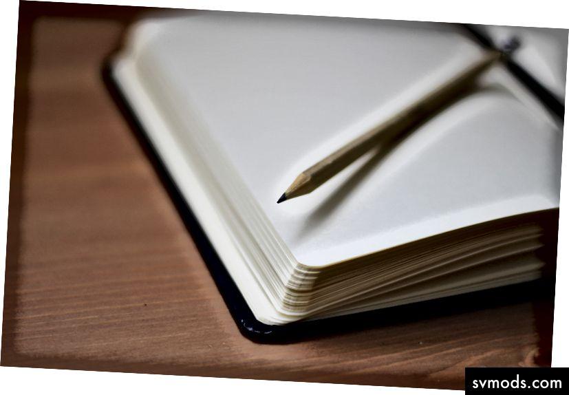 """Jan Kahánek """"Ceruza nyitott notebook tetején"""" című részében, az Unsplash oldalán"""