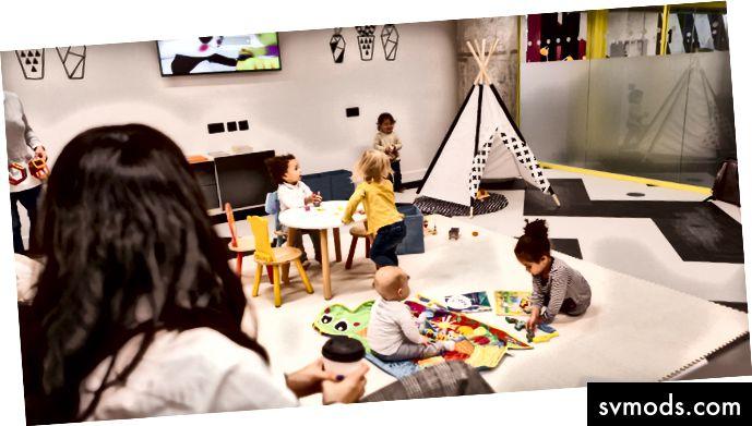 Di dalam Kids Studio di Huckletree West