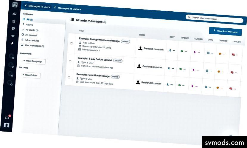 Beispiel für die Intercom-Outreach-Automatisierung