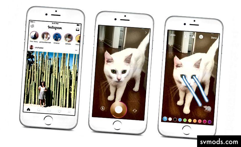 Instagram történetek vs. Snapchat