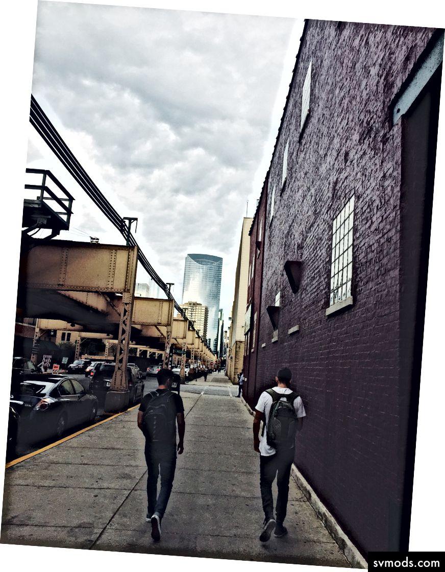 Drew und ich in Chicago, Woche 1 der Digital Press.