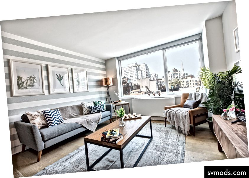 A Blueground otthonok egyedi bútorokkal és csúcsminőségű otthoni szórakozással vannak felszerelve.