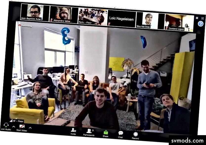 Pertemuan tim terbaru kami melalui Zoom