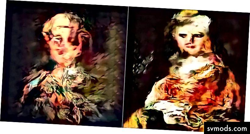 """""""Potret wajah"""" yang dihasilkan oleh AI oleh Ahmed Elgammal dan AICAN. Foto: Artrendex Inc./The Atlantic"""