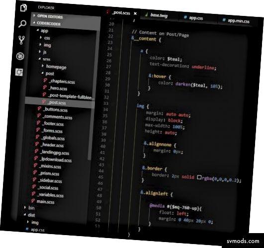 Contoh highlight sintaks dalam VS Code