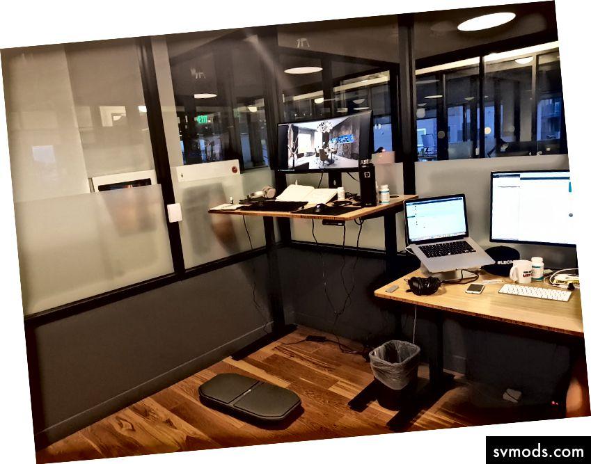 Meine Workstation in unserem Büro bei WeWork @ Santa Monica