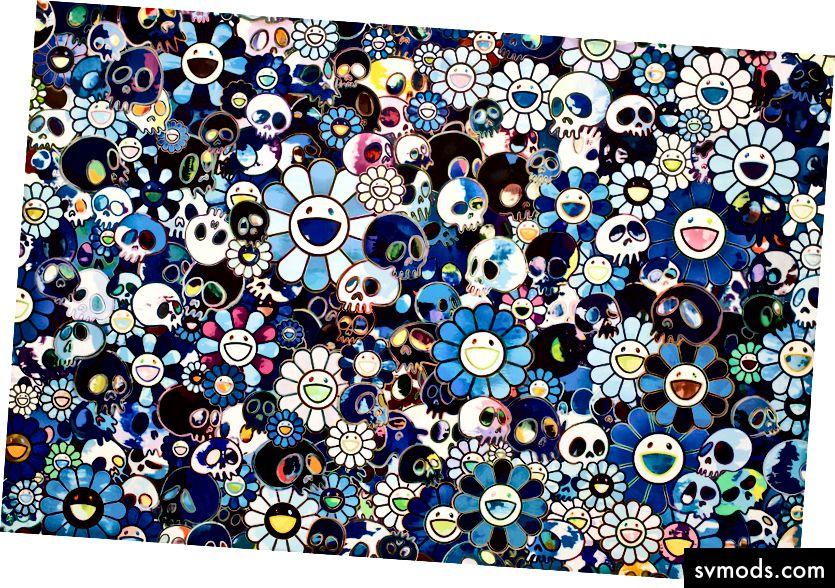 Takashi Murakami 'Flowers & Skulls'