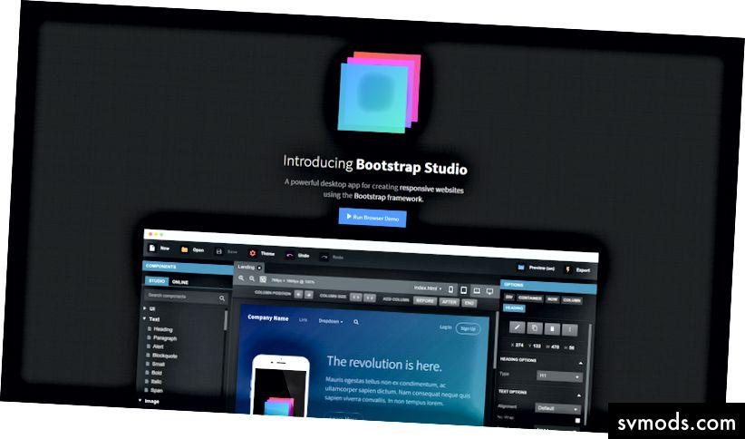 Bootstrap stúdió honlapja