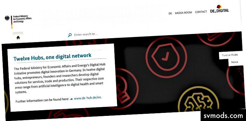 """Németország új """"Digitális Hub Kezdeményezése"""": www.de-hub.de"""