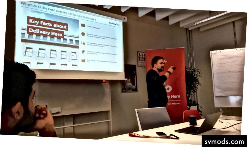 """A """"How Tech hozza neked ételét, amelyet szeretsz"""" a Delivery Hero berlini székhelyén - szerzői jog Tricia Levasseur."""
