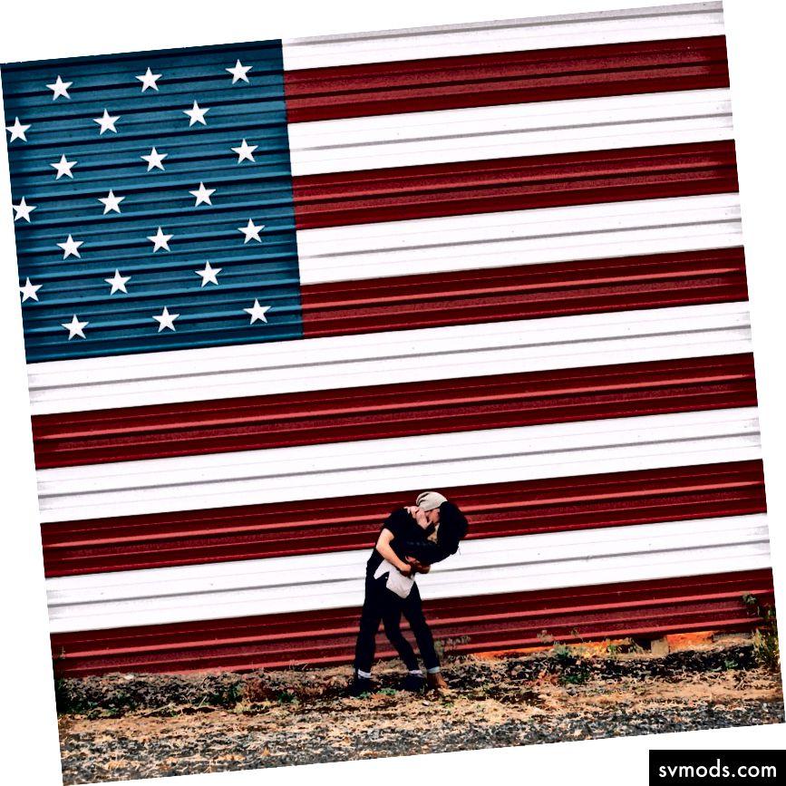 Gefährlicher Nationalismus oder klassisches Americana? Du entscheidest. :) Foto, zwanzig20.